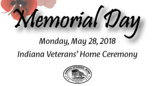 Indiana Veterans Home Memorial Day Ceremony